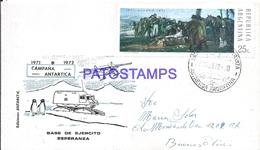 117419 ARGENTINA ANTARTIDA ANTARCTICA BASE DE EJERCITO ESPERANZA COVER 1972 CIRCULATED TO BUENOS AIRES NO POSTCARD - Argentinien