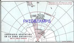 117420 ARGENTINA ANTARTIDA ANTARCTICA BASE DE EJERCITO ESPERANZA MAP  MAPA CIRCULATED TO BUENOS AIRES NO POSTCARD - Argentinien