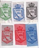 Brevets Natation FRBNS 25 M, 50m, 100 M, 400 M, 800 M, 1500 M - Blazoenen (textiel)
