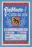 Schweiz Suisse 1959: Kantonalschützenverein Bern Fleißkarte De Zèle Société De Tir SONCEBOZ SOMBEVAL (Format 118x184mm) - Waffenschiessen