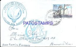 117423 ARGENTINA ANTARTIDA ANTARCTICA BASE DE EJERCITO ESPERANZA COVER 1972 CIRCULATED TO BUENOS AIRES NO POSTCARD - Argentinien