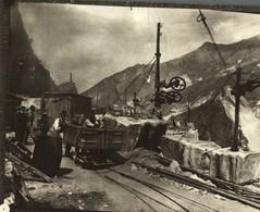 CARRARA QUARRIES ITALY MARBLE TAILLE DE LA PIERRE MINE MINAS MINING STONE MINES  19*15CM Fonds Victor FORBIN 1864-1947 - Profesiones
