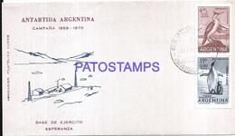 117425 ARGENTINA ANTARTIDA ANTARCTICA BASE DE EJERCITO ESPERANZA COVER 1971 CIRCULATED TO BUENOS AIRES NO POSTCARD - Argentinien