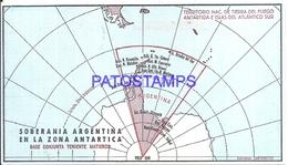 117427 ARGENTINA ANTARTIDA ANTARCTICA BASE TENIENTE MATIENZO 1970 CIRCULATED TO BUENOS AIRES POSTCARD - Argentinien