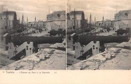 10 L'Entree Du Port à La Goulette Tunisie Tunisia Stereo Postcard - Tunisie