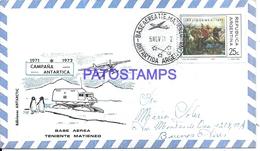 117429 ARGENTINA ANTARTIDA ANTARCTICA BASE TENIENTE MATIENZO COVER 1971 CIRCULATED TO BUENOS AIRES NO POSTCARD - Argentinien