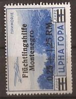 1944 27 FLUECHTLINGSHILFE DEUTSCHE BESAETZUNG MONTENEGRO CRNA GORA - MNH OHNE FALZ - Occupation 1938-45