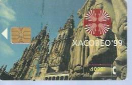 TELEFONICA  1000 PTA -  XACOBEO'99 - Puce ? - ESPAGNE - 12/2001 - Espagne
