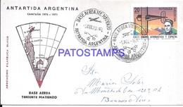 117433 ARGENTINA ANTARTIDA ANTARCTICA BASE TENIENTE MATIENZO COVER 1970 CIRCULATED TO BUENOS AIRES NO POSTCARD - Unclassified