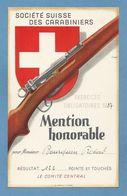 Schweiz Suisse 1937: SOCIÉTÉ SUISSE DES CARABINIERS - EXERCICES OBLIGATOIRES 1937 - MENTION HONORABLE (Format 118x184mm) - Waffenschiessen