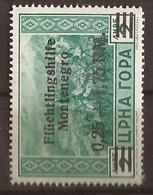 1944 25  FLUECHTLINGSHILFE DEUTSCHE BESAETZUNG MONTENEGRO CRNA GORA - MNH OHNE FALZ - Occupation 1938-45