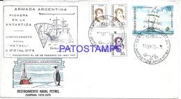 117435 ARGENTINA BUENOS AIRES COVER 1975 CIRCULATED TO ANTARTIDA ANTARCTICA BASE AERONAVAL PETREL NO POSTCARD - Unclassified