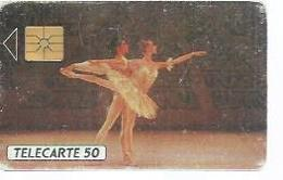 TELECARTE 50 -  LES BALLETS DE MONTE-CARLO - Puce GEM - MONACO - Monaco