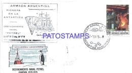 117438 ARGENTINA BUENOS AIRES COVER 1975 CIRCULATED TO ANTARTIDA ANTARCTICA BASE AERONAVAL PETREL NO POSTCARD - Argentinien