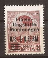 1944 20  FLUECHTLINGSHILFE DEUTSCHE BESAETZUNG MONTENEGRO CRNA GORA - MNH OHNE FALZ - Occupation 1938-45