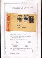 BELGIAN CONGO 1941 ISSUE ALBERT'S MEMORIAL CENSORED COVER FROM KOLWEZI 17.01.42 TO NY - 1923-44: Briefe U. Dokumente