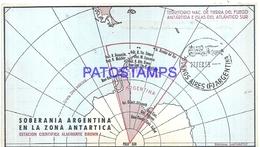 117445 ARGENTINA ANTARTIDA ANTARCTICA ESTACION CIENTIFICA ALMIRANTE BROWN MAP MAPA 1969 CIRCULATED TO BS AS NO POSTCARD - Argentinien