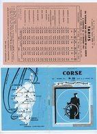 LIVRET DE LA Cie Gle TRANSATLANTIQUE DES DEPARTS CORSE/CONTINENT/CORSE -  N°29 DE MAI-OCTOBRE 1961 (16 PAGES DE 11X14,5 - Europe