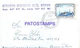 117447 ARGENTINA ANTARTIDA ANTARCTICA ESTACION CIENTIFICA ALMIRANTE BROWN COVER 1972 CIRCULATED TO BS AS NO POSTCARD - Argentinien