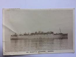 MV Georgic - `His Majesty`s Transport` - London Paquebot Postmark 1948 - Schiffe