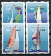 San Marino 2001 Sass. 1777-1780 Nuovo ** 100% Sport, Vela. - San Marino