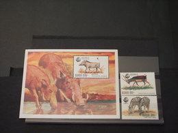 UGANDA - 1992 ANIMALI 2 VALORI + BF -  NUOVI(++) - Uganda (1962-...)