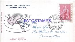 117451 ARGENTINA BUENOS AIRES COVER 1970 CIRCULATED TO ANTARTIDA ANTARCTICA BASE EJERCITO GRAL BELGRANO NO POSTCARD - Argentinien
