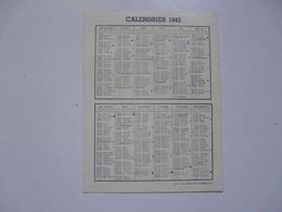 VIEUX PAPIERS - CALENDRIER 1943 - Calendriers