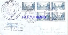 117452 ARGENTINA BUENOS AIRES COVER 1973 CIRCULATED TO ANTARTIDA ANTARCTICA BASE EJERCITO GRAL BELGRANO NO POSTCARD - Argentinien