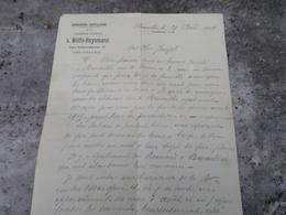 Courrier De La Brasserie Grande Porte Bruxelles En 1914 - Belgique