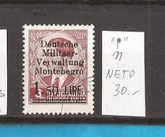 1943  4 I  DEUTSCHE MILITAER VERWALTUNG  DEUTSCHE BESAETZUNG MONTENEGRO CRNA GORA -  OHNE  GUMMI - Occupation 1938-45