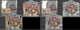 N776 GOLD SILVER 2012 MOZAMBIQUE MOCAMBIQUE ART FABERGE EGGS ROSSICA ARCHITECTURE 6BL MNH - Briefmarkenausstellungen