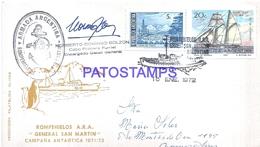117460 ARGENTINA ANTARTIDA ANTARCTICA COVER SHIP ROMPEHIELOS GRAL SAN MARTIN 1972 CIRCULATED TO BUENOS AIRES POSTCARD - Argentinien