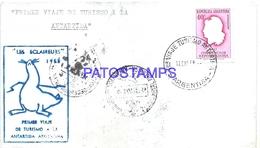 117462 ARGENTINA BUENOS AIRES COVER 1958 1º VIAJE SHIP CIRCULATED TO ANTARTIDA ANTARCTICA NO POSTCARD - Argentinien