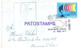 117463 ARGENTINA ANTARTIDA ANTARCTICA COVER YEAR 1971 SHIP 2º CRUCERO CIRCULATED TO BUENOS AIRES NO POSTCARD - Argentina