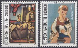 JUGOSLAVIJA - 1993 - Serie Completa Nuova Senza Gomma Formata Da 2 Valori: Yvert 2495/2496. - 1992-2003 Repubblica Federale Di Jugoslavia