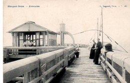 Nieuport-Bains  Estacade  Animée Circulé En 1908 - Nieuwpoort