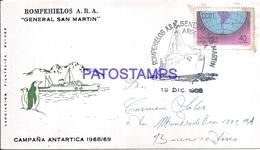 117467 ARGENTINA ANTARTIDA ANTARCTICA COVER SHIP ROMPEHIELOS YEAR 1968 CIRCULATED TO BUENOS AIRES NO POSTCARD - Argentina