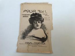 Partition - POUR TOI! Valse Chantée - SCHMIT - TARAULT / CODINI & COURTIOUX - 1911 - Partituren