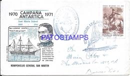 117468 ARGENTINA ANTARTIDA ANTARCTICA COVER SHIP ROMPEHIELOS YEAR 1971 CIRCULATED TO BUENOS AIRES NO POSTCARD - Argentinien