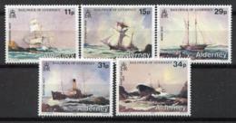 Alderney 1987 Mi. 32-36 Nuovo ** 100% Nave - Alderney