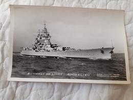 Bateau De Guerre Richelieu - Oorlog