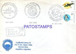 117471 ARGENTINA ANTARTIDA ANTARCTICA COVER SHIP BUQUE ROMPEHIELOS 1996 CIRCULATED TO BUENOS AIRES NO POSTCARD - Argentinien