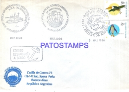 117471 ARGENTINA ANTARTIDA ANTARCTICA COVER SHIP BUQUE ROMPEHIELOS 1996 CIRCULATED TO BUENOS AIRES NO POSTCARD - Argentina