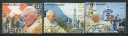 Vaticano 2005 Sass. 1393-1395 Usato 100% Viaggi Del Papa Giovanni Paolo II - Vaticano