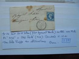 Francia. Marcophilie. YT14 Isolé. Description. 4 Photos - Postmark Collection (Covers)