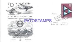 117475 ARGENTINA CORDOBA COVER AVIATION MILITAR 50 ANIVERSARIO YEAR 1962 NO POSTCARD - Argentina