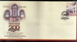 India 2019 London Mission Memorial Church Religion Special Cover # 18570 - Churches & Cathedrals