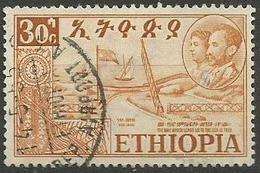 Ethiopia - 1952 Federation With Eritrea 30c  Used  .    Sc 329 - Ethiopia