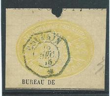 Telegramzegel 50C-20 Mots Uit Telegramdocument Gestempeld Louvain Dec.1875 - Télégraphes